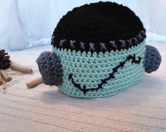 Frankenstein hat, that fear, not me hand-made crochet