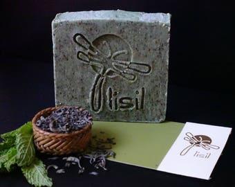 Handmade Natural Peppermint & Green Tea Soap