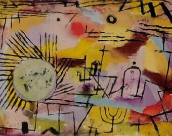 SET of TABLE semi-rigid ORIGINAL AESTHETIC WASHABLE and durable - Painters abstract - Paul Klee - Sunrise - version