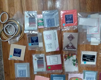 Over 70 Various Vintage Needlepoint kits, cross stitch, teddy bear kit,  fabric, crafting items lot