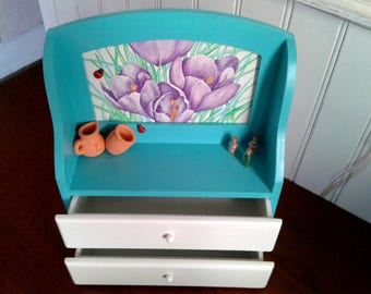 Mini dresser with 2 drawers crocus decor kitchen