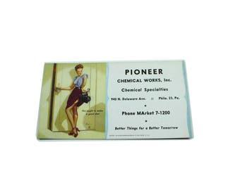 Vintage Advertising Card Pinup USA.  Ephemera.