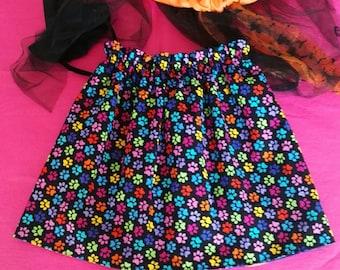 Reversible girls cotton skirt.