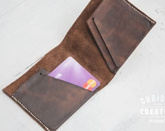 Slim Minimal Leather Wallet - The Winchester