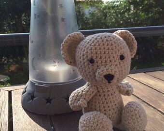 Little Girl Amp Teddy Bear Sitting On Wicker Chair Figurine 2