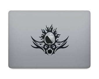 Holly Apple Decal Sticker for Macbooks and other Laptops | Tribal / Religion / Grail | Tribalist style decal for Macbook