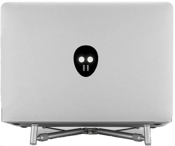 Hockey Mask Decal Sticker for Macbooks and other Laptops, Laptop Macbook Stick Ice Sport Bandy Roller Sledge Street Foot Air, mac
