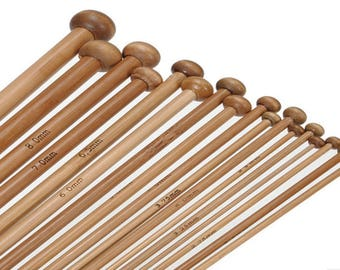 Straight needle 2.00 mm bamboo
