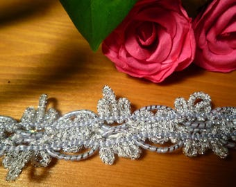 Beautiful braid fancy grey/silver 1 m