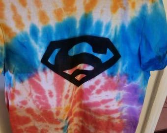 Superman Spiral Tie Dye