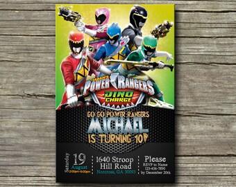 Power Ranger Invitation,Power Ranger Birthday,Power Ranger Birthday Invitation,Power Ranger Party,Power Ranger Birthday Party-S005