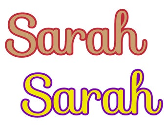 Two Tone Name Decal - Name or Word Decal