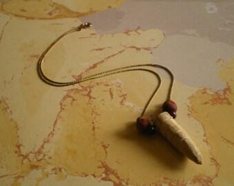 raw antler tip necklace