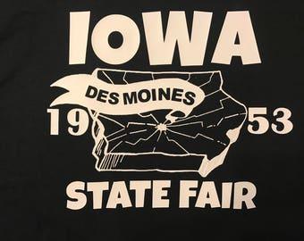 Vintage reproduction 1953 Iowa State Fair t shirt