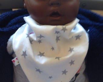 Bandana bib for baby girl