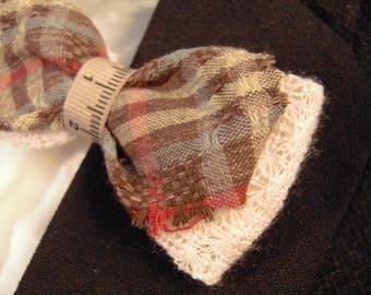 """Bowtie """"couture"""" fabric Scottish"""