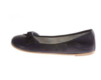 Ballerina Blue Leather