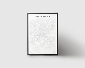 Knoxville Map Print