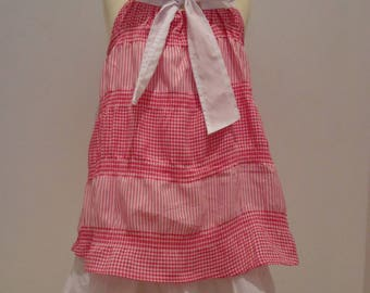 DRESS GREASE BABY PINK AND WHITE 2/3 YEARS