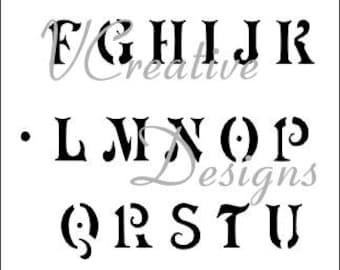 Antique Upper alphabet stencil