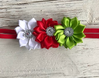 Christmas Flower Headband,Flower Headband,Flower Crown,Floral Headband,Floral Crown,Christmas Headband,Holiday Headband,Christmas Flower