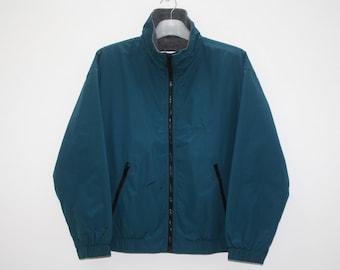 Vintage Eddie Bauer Green Nylon Women Lightweight Jacket Size S