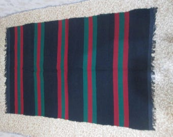 Bulgarian rug, Hand-woven rug, Antique rug, Traditional Bulgarian folk art, Handmade cover, Color wool rug, Rustic home decor, Farmhouse
