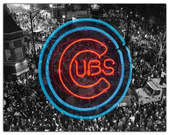 Chicago Cubs Art World Series Photograph Fine Art Print Wall Decor Poster