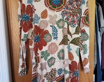 70s Long Sleeve Dress