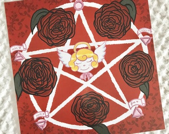 Cherub's Pentagram Print