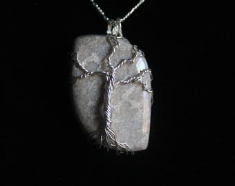 Fossilized Coral Tree of Life Pendant