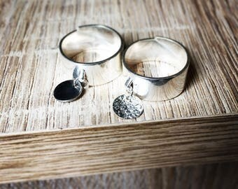 Ring silvered with his little charm to choose