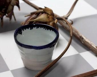 Handmade ceramic cup, beautiful oxide finish, wheel thrown pottery, stoneware