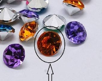 120 5.5 mm orange diamond shape rhinestone