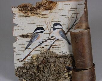 Birch Bark Chickadee's