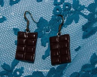 Chocolate bar earring