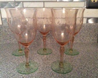 Water melon stem glassware