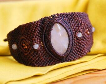 "Rose Quartz bracelet ""Reverse"""