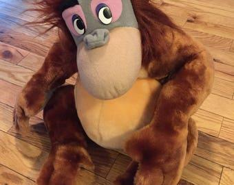 Vintage King Louie Stuffed Animal Jungle Book With Tags Walt Disney