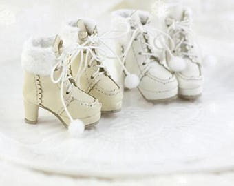 1/8 Doll Shoes Snow Boots Outfit for Blythe Doll DAL Pullip Momoko Lati_y/Pukifee Custom Blythe Doll,Mini Sneakers High Boots for Dolls