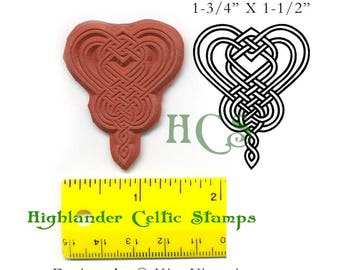 Butterfly Heart Knotwork Unmounted Rubber Stamps