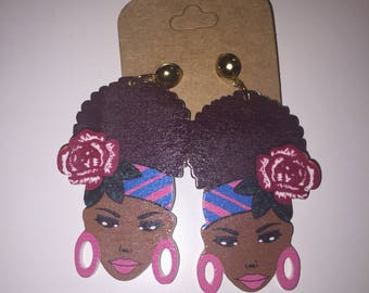 Funky curly hair Earrings