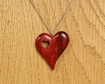"Pendant ""of heart to heart"" - wooden jewelry"