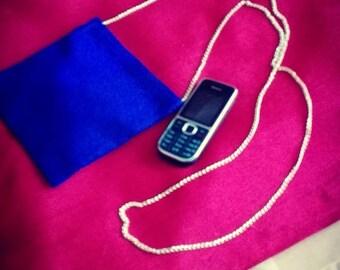 case for phone or Royal Blue mini bag to wear shoulder strap