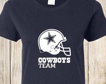 Dallas Cowboys Women's Vinyl Tee - Team Cowboys NAVY BLUE
