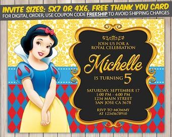 Snow White Invitation, Snow White Birthday, Snow White Birthday Invitation, Snow White Party, Snow White Invite, Snow White Printable