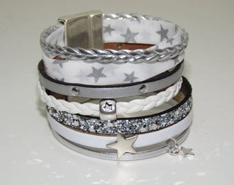 """""""Star"""" Cuff Bracelet with magnetic clasp"""