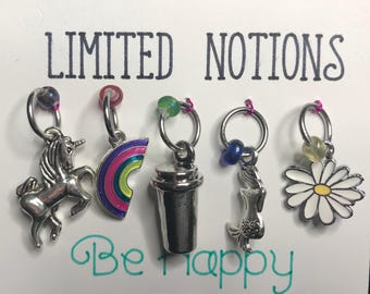 Be Happy Stitch Marker Set