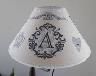 Fabric covered Lampshade Beige - model 001