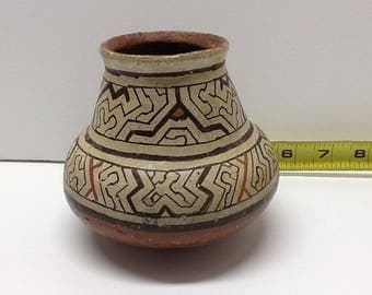 Authentic Peruvian Shipibo Maroti Ceremonial Bowl  40's to 60's FREE SHIPPING